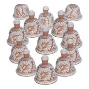 Set De 50 Campanas De Talavera Poblana En Rosa/blanco 5 Cm