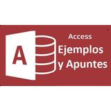 Ejemplos De Base De Datos En Access + Apuntes Muy Completo