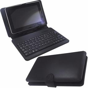 Capa Case De Couro Teclado Usb Tablet 10 Polegadas Preto