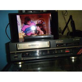 Videocasetera Slim Sony Betamax Sl-55 Funciona Bien Cuidada