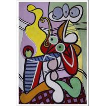 Lienzo, Picasso, Naturaleza Muerta Mesa De Pedestal 70x105cm