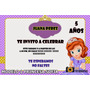 Tarjetas De Invitación De Cumpleaños Princesa Sofia