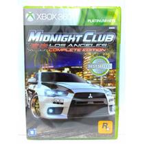 Midnight Club Los Angeles Xbox 360 Lacrado Novo Midia Fisica
