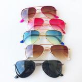 Óculos De Sol Infantil Aviador Proteção Uv Menina E Menino