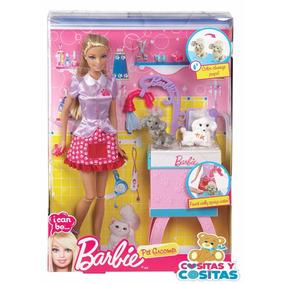 Barbie Quiero Ser Veterinaria Perritos Baño Envio Gratis