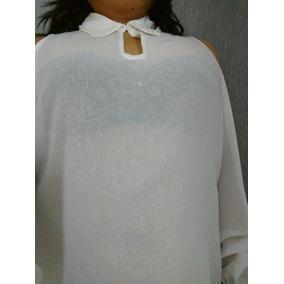 Blusa Blanca Camisa Manga Elegante Marca Salsa Promo No Gap