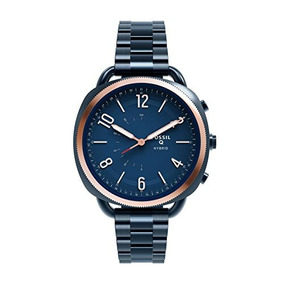 Fósil Q Hybrid Smartwatch Mujeres Accomplice Slim Ocean Blu