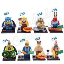 Bob Esponja 8 Bonecos Lego Produto Novo