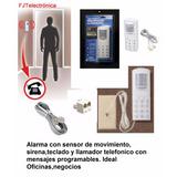 Kit Alarma Todo En Uno Pir+sirena+teclado+ Llamador Telefón