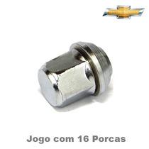 Jogo Porca Roda Chevette 16 Peças Cromado 8004b
