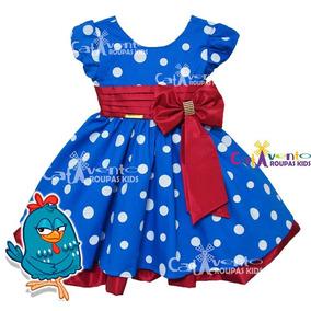 Vestido Festa Infantil Galinha Pintadinha Minnie Na Promoção