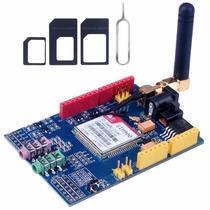 Módulo Gsm Gprs Shield Sim900 Com Antena Quad Band Arduino