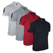 Kit 04 Camisas  Gola Polo Masculina Original Polo Rg518