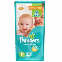 Fraldas Pampers P Total Confort - Mega 50 Unidades Infantil