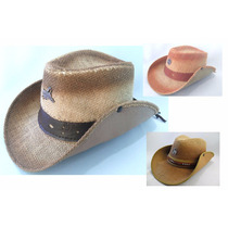 Chapeu Palha Country Rodeio Peão Festa - Vários Modelos