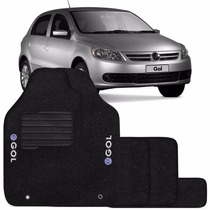 Tapete Automotivo Carpete Carro Gol G6 Volks Bordado Preto