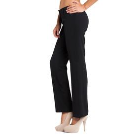 Pantalón Medio Recto Clásico De Mujer - Tela Zara | Chima