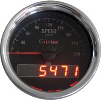 Velocimetro Digital De Ponteiro Com Odometro 85mm Guster