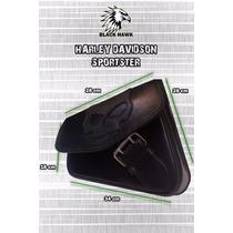 Alforja Harley Davidson Sportster Lateral Cuero Vacuno
