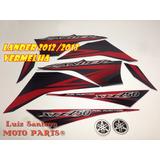 Faixa Adesiva Xtz 250 Lander 2012 Vermelha