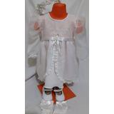 Vestidocompleto De Fiestabautismo Bebe,nenatalle 0 A3 Años