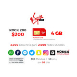 Plan Virgin Mobile200 - 4gb, 300 Min, 30 Días Chip Incluido