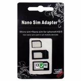 Adaptador 4x1 Nano Chip, Mini, Micro Sim Card + Ejetor Chip