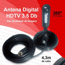 Antena Interna/externa Tv/digital Hdtv 3.5 Dbi Cabo C/4.3 M
