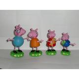 Topes Para Torta, Familia Peppa Pig En Masa Flexible