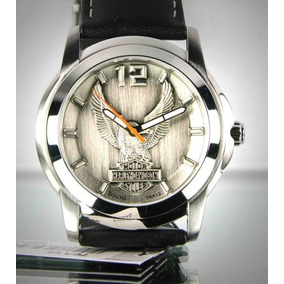 Harley-davidson® Bulova® Mens Watch. Raise Pewter Dial. 76