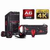 Pc Amd Dc A6 7400k 3.5 4gb 500gb Video 4k Xt-gamer Techstore