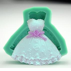 Molde Silicona Vestido! Ideal Souvenir 15 Años Porcelana Fri