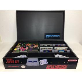 Caixa Super Nintendo Com Divisorias De Madeira Mdf