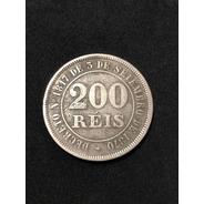 Moeda Antiga 200 Réis 1884 Império Do Brasil