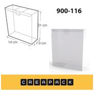 Caja De Acetato Pvc Transparentes 21 X 7 X 14cm (x12)