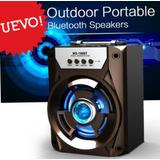 Parlante Iluminacion Led Bluetooth Aux Fm Tf Usb Multimedia