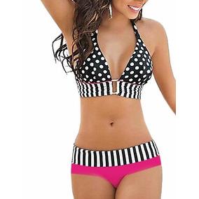 Bikini Mujer Vintage, Hermoso Traje De Baño