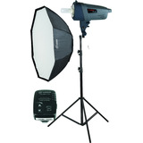 Kit Flash Estudio 300w Soft Octo Pie Newborn Baby Kid Visico
