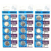 Bateria Relógio Controle Alarme 3v Cr2032 Cr2025 Cr2016