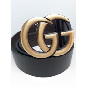 Cinto Negro Gucci Doble Gg Para Dama.