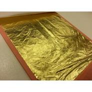 100 Folhas De Ouro 16x16 Importada Alta Qualidade F.r.m