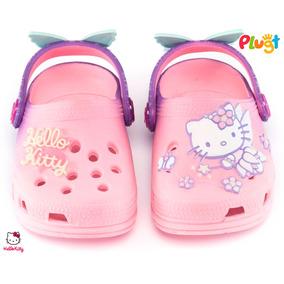 Babuche Sandália Infantil Menina Plugt Hello Kitty