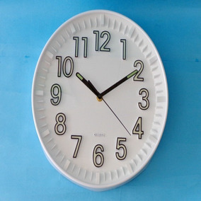 Relógio De Parede Fluorescente Que Brilha Muito No Escuro