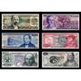 Lote De 6 Billetes Mexicanos Sin Circular