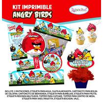 Kit Imprimible Angry Birds Invitación Etiquetas Tarjeta Invi