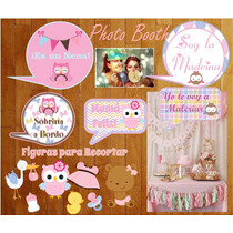 Photo Booth Baby Shower Nena Imprimible Editable Frases 2*1