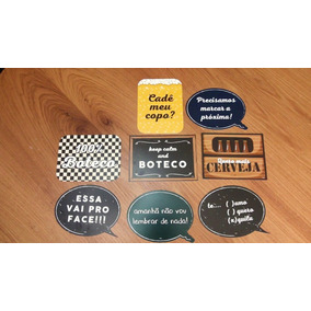 Placas Festas Do Boteco Kit Com 9 Plaquinhas