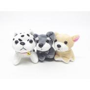 5 Chaveiros Pelúcia Cachorros - Adote Cachorrinho