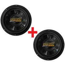 2 Subwoofers Spyder Low Bass 12 Pol. Auto Falante 200w Rms