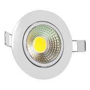 Luminária Cob Led 12w - Redonda - Com Ajuste Angular
